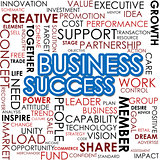 Business success word cloud