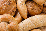 Different Breads and Rolls from Bakery