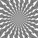 Monochrome abstract decorative strip spiral background in op art