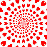 Design red whirl heart backdrop. Valentines Day background