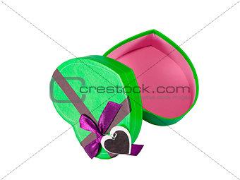 Green Heart shaped box