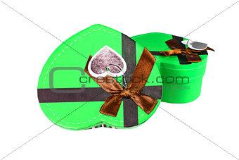 Green Heart-shaped box