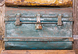 Old metal  treasure chest