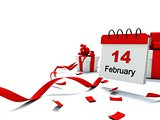 Valentines day on calendar
