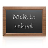 Blank blackboard- back to school