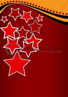 greeting card with red stars