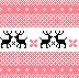 Norway pattern with reindeer ( pink and white )