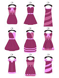 Set of female dresses