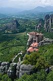 Meteora rock pillars