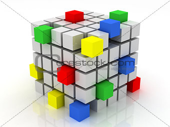 cube assembling from blocks