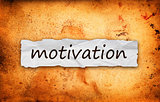 Motivation title on piece of paper
