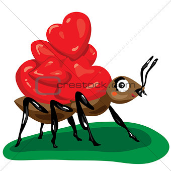 ant and hearts