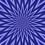 Blue and White Rippling Star