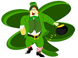 leprechaun beer large shamrock background