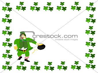 leprechaun beer pot of gold clover boarder