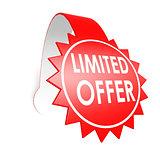 Limited offer star label