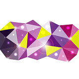 Triangle vector background. Illustration for your business presentation.