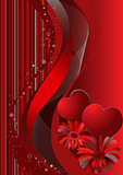 valentine's day, red  background