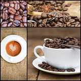 Collage of coffee images