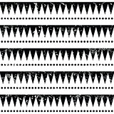 Seamless aztec tribal pattern - retro, grunge style