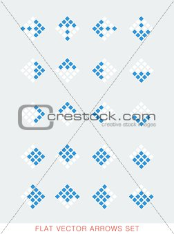 Flat color vector arrows set
