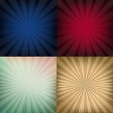 Grunge Vintage Sunburst Backgrounds