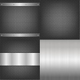 Metal And Aluminum Backgrounds Set