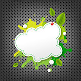 Metal Background With Green Eco Speech Bubble