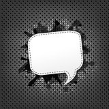 Metal Background With Speech Bubble