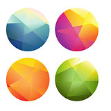 Set Of Color Spheres