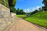 Landscape in Gatchina garden.