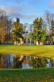 "Landscape with ""Evening Hall"" pavilion in Pushkin."