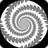 Design decorative spiral movement background. Abstract monochrom