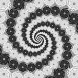 Design uncolored spiral movement background. Twirl lacy textured