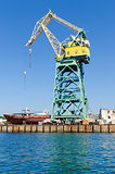 port crane in Sevastopol