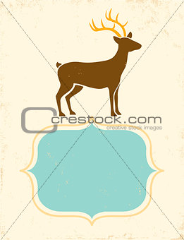 Poster with deer