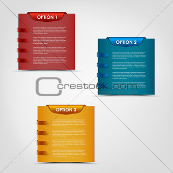 Modern options labels progress background
