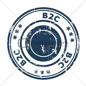 B2C concept stamp