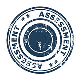 Business assessment concept stamp