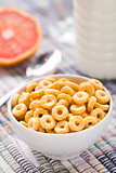 Bowl of honey corn rings