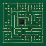 Computer microchip labyrinth