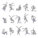 Dancing rabbits cartoon