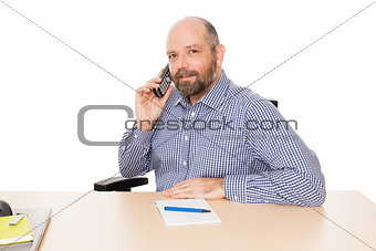 business man at the phone