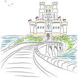 Vector medieval castle