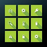 Vector flat web icon set