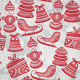 Vector  Bright Seamless Winter Pattern