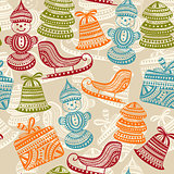 Vector Seamless Winter Pattern