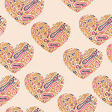 Vector Valentine's Seamless Abstract Pattern