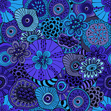 Vector Abstract Seamless  Floral Composition