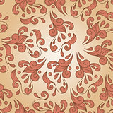 vector seamless floral vintage pattern on gradient  background